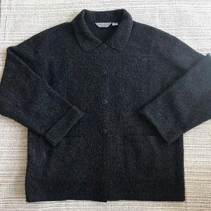 VTG Eddie Bauer Button Up Sweater Coat XL